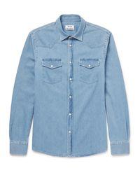 Acne Blue Ewing Denim Western Shirt for men