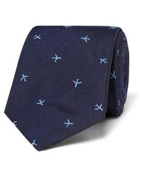 Paul Smith - Blue 6.5cm Embroidered Silk-faille Tie for Men - Lyst