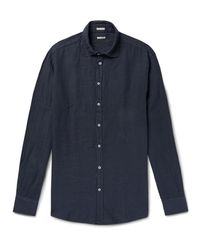 Massimo Alba - Blue Linen Shirt for Men - Lyst