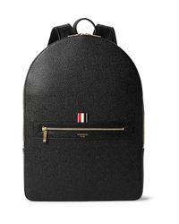Thom Browne - Black Pebble-grain Leather Backpack for Men - Lyst