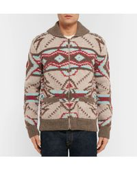 Faherty Brand - Brown Huron Shawl-collar Wool And Alpaca-blend Zip-up Cardigan for Men - Lyst