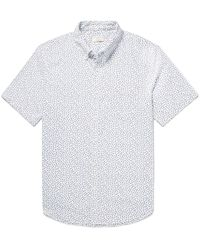 1b9e8ed9d4c Club Monaco. Men s White Button-down Collar Floral-print Cotton Oxford Shirt