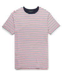 Derek Rose - Red Alfie Striped Stretch Micro Modal Jersey T-shirt for Men - Lyst
