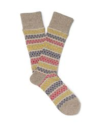 Anonymous Ism | Natural Patterned Knitted Socks for Men | Lyst