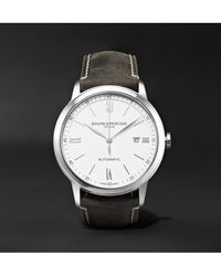 Baume & Mercier - Multicolor Classima Automatic 42mm Stainless Steel And Leather Watch for Men - Lyst