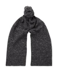 Anderson & Sheppard - Gray Donegal Wool-blend Scarf for Men - Lyst