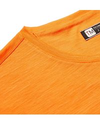 Z Zegna - Orange Techmerino Wool And Linen-blend T-shirt for Men - Lyst