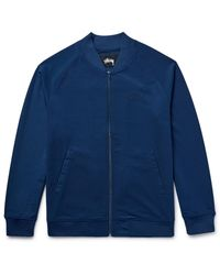 Stussy Blue Piqué Tennis Jacket for men