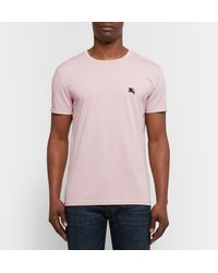 Burberry - Pink Equestrian Knight T-shirt for Men - Lyst