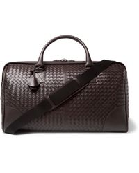 Bottega Veneta - Brown Intrecciato Leather Holdall for Men - Lyst