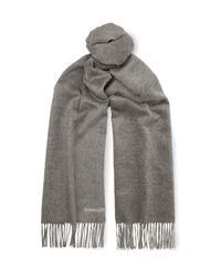 Ermenegildo Zegna | Gray Reversible Silk Scarf for Men | Lyst