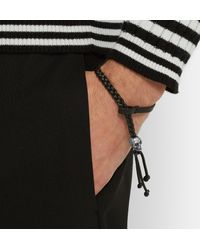 Alexander McQueen | Black Printed Leather Bracelet for Men | Lyst