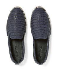 Jimmy Choo - Blue Vlad Croc-effect Leather Espadrilles for Men - Lyst
