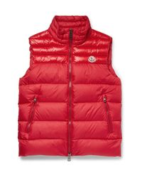 Moncler | Blue Dupres Quilted Shell Down Gilet for Men | Lyst