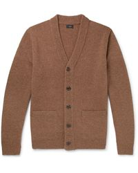 J.Crew - Brown Wool Cardigan for Men - Lyst