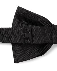 Dunhill - Black Pre-tied Mulberry Silk Bow Tie for Men - Lyst