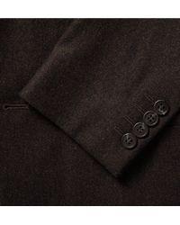 COS - Multicolor Brown Slim-fit Mélange Wool-flannel Blazer for Men - Lyst
