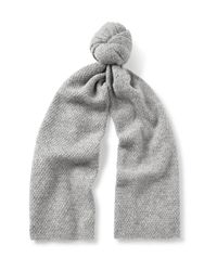 COS - Gray Textured Alpaca-blend Scarf for Men - Lyst