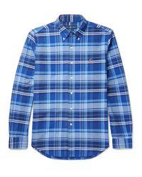 Polo Ralph Lauren   Blue Slim-fit Button-down Collar Checked Cotton Oxford Shirt for Men   Lyst