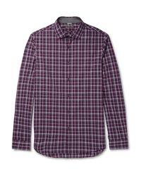Michael Kors   Purple Slim-fit Checked Cotton-poplin Shirt for Men   Lyst
