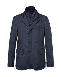 Hackett | Blue Slim-fit Water-resistant Shell Jacket With Detachable Bib for Men | Lyst