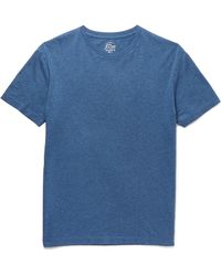 J.Crew | Blue Broken-in Slim-fit Mélange Cotton-jersey T-shirt for Men | Lyst