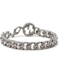 Gucci | Metallic Rhodium-plated Chain Bracelet for Men | Lyst