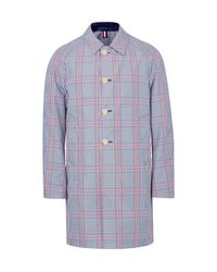 Thom Browne | Blue Reversible Prince Of Wales Checked Cotton-blend And Shell Coat for Men | Lyst