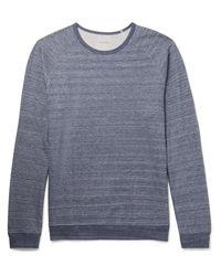 Paul Smith   Blue Mélange Loopback Cotton-jersey Sweatshirt for Men   Lyst