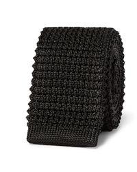 Lanvin | Black 5cm Knitted Silk Tie for Men | Lyst