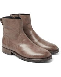 Belstaff | Brown Attwell Leather Boots for Men | Lyst