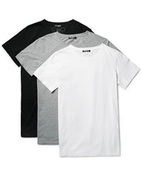 Balmain | Gray Three-pack Slim-fit Distressed Cotton-jersey T-shirts for Men | Lyst