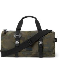 Polo Ralph Lauren | Green Leather-trimmed Camouflage-print Canvas Duffle Bag for Men | Lyst