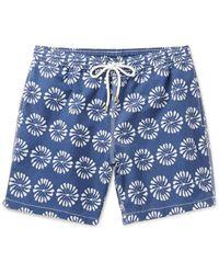Hartford   Blue Mid-length Floral-print Swim Shorts for Men   Lyst