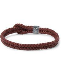Bottega Veneta | Brown Woven Leather Double-Band Bracelet for Men | Lyst
