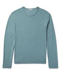 James Perse - Green Slub Cotton-jersey T-shirt for Men - Lyst