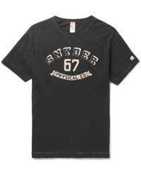 Todd Snyder | Black Slim-fit Printed Slub Cotton-jersey T-shirt for Men | Lyst