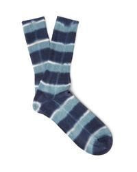 Anonymous Ism | Blue Tie-dyed Cotton-blend Socks for Men | Lyst