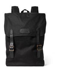 Filson | Black Ranger Leather-trimmed Twill Backpack for Men | Lyst