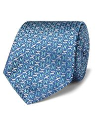 Turnbull & Asser Blue 8cm Silk-jacquard Tie for men