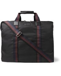 Paul Smith - Black Leather-trimmed Shell Suit Carrier for Men - Lyst