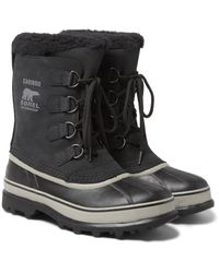 Sorel | Black Caribou Waterproof Nubuck And Rubber Snow Boots for Men | Lyst
