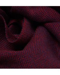 Anderson & Sheppard - Red Birdseye Cashmere Scarf for Men - Lyst