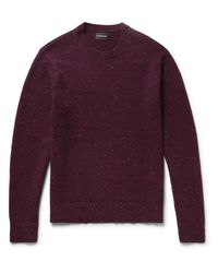 Club Monaco - Purple Jaxon Slim-fit Donegal Wool-blend Sweater for Men - Lyst