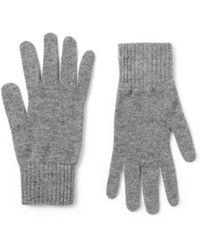 William Lockie - Gray Cashmere Gloves for Men - Lyst