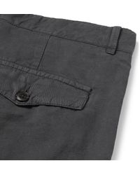 Officine Generale - Gray New Fisherman Slim-fit Garment-dyed Cotton And Linen-blend Chinos for Men - Lyst