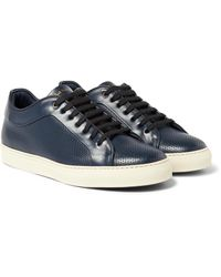Paul Smith - Blue Basso Perforated Leather Sneakers for Men - Lyst