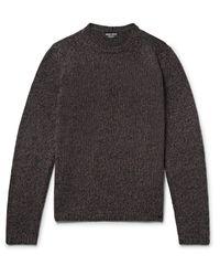 Giorgio Armani - Brown Mélange Cashmere Sweater for Men - Lyst