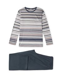 Zimmerli - Gray Mercerised Cotton-jersey Pyjama Set for Men - Lyst