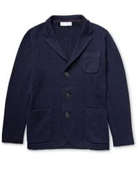 Brunello Cucinelli - Blue Stand-collar Cashmere Cardigan for Men - Lyst